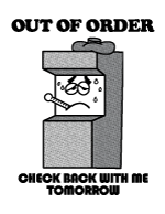 Wreck-It Ralph Out of Order Sign Plain